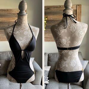 Victoria's Secret Halter Monokini Swimsuit w/Chain